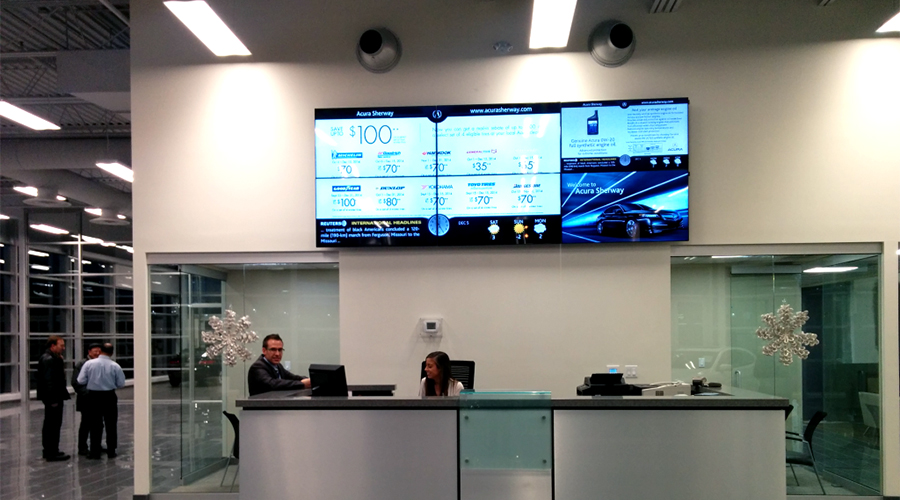 Acura Large Video Wall Installation