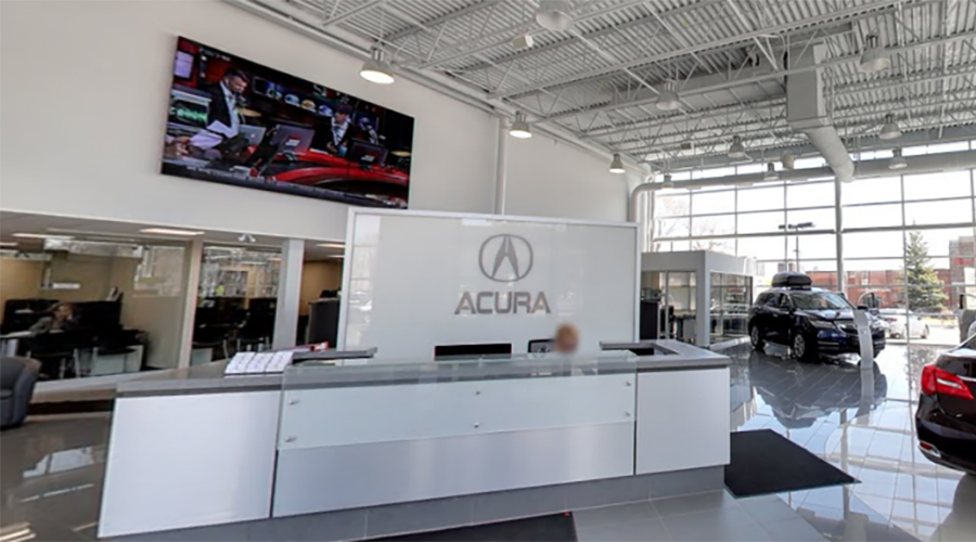 Acura Showroom Video Wall Installation
