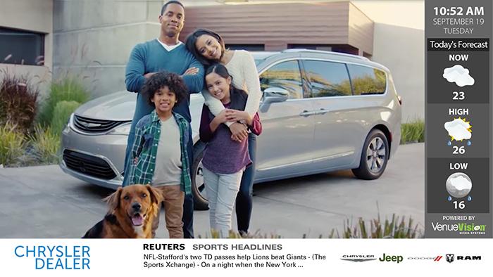 Chrysler Interface Digital Signage