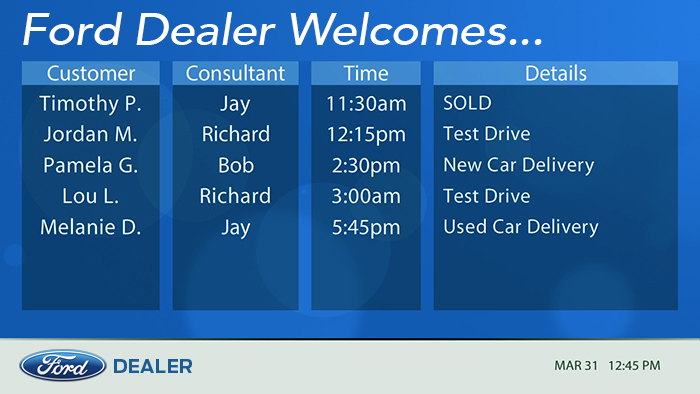 Ford Sales Appointments