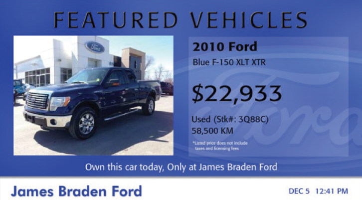 featured vehicle inventory dashboard