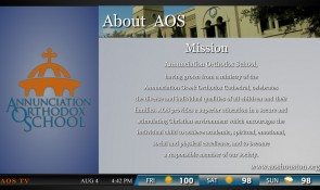display information about your school's mission