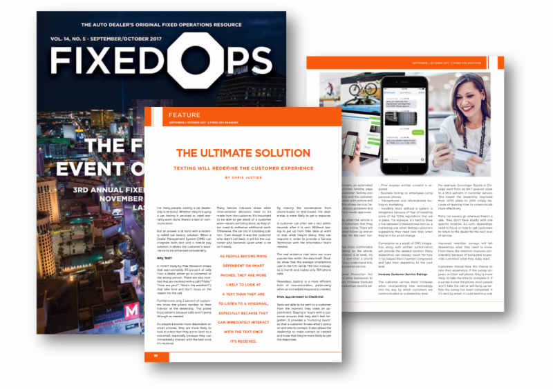 Fixed Ops Magazine: Texting will redefine the customer experience