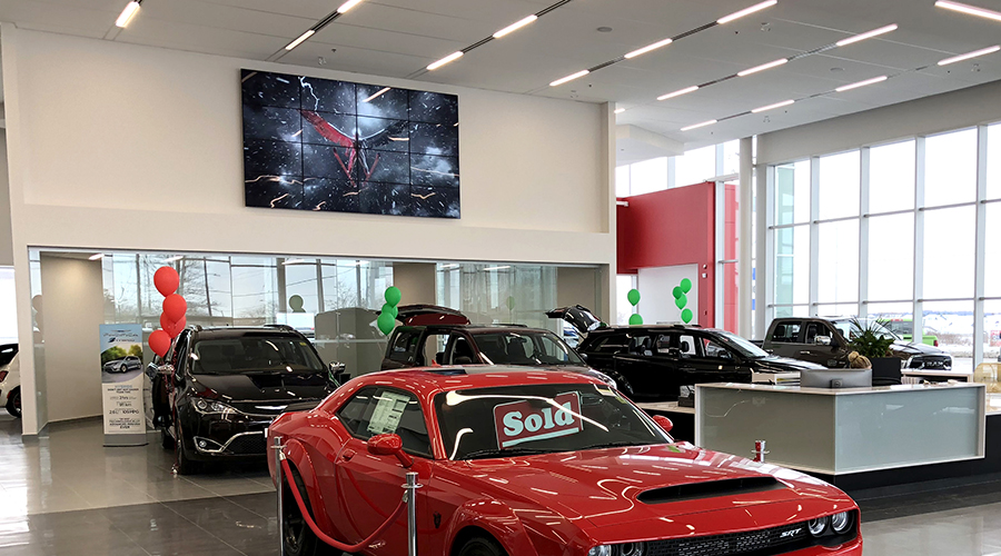 Chrysler Showroom Video Wall Installation