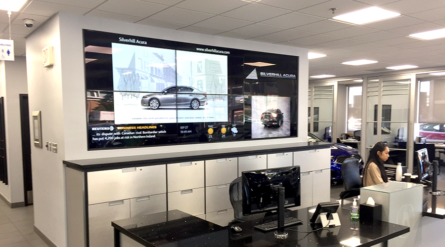 Acura Reception Video Wall Digital Signage