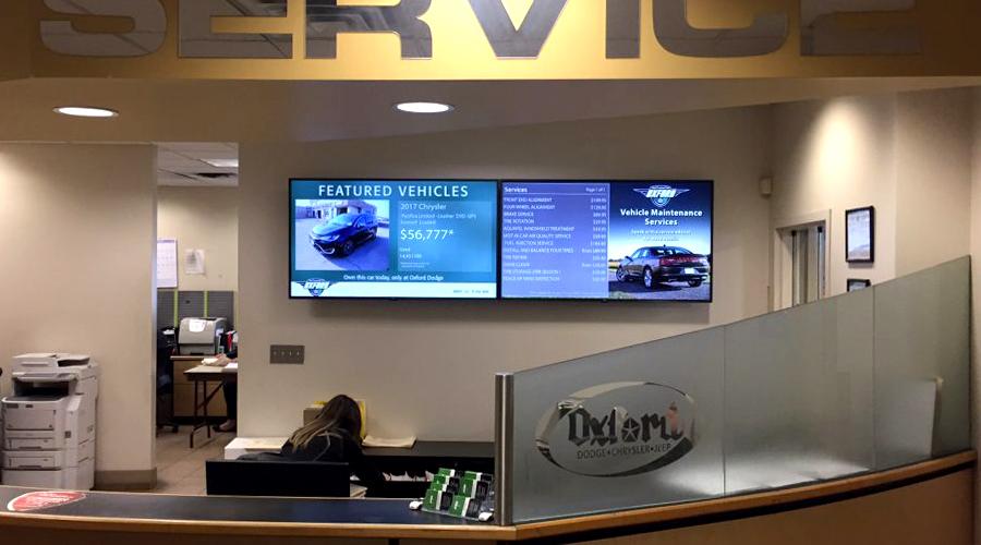 Ford Service Digital Signage