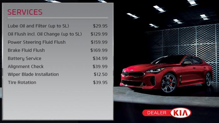 Kia Digital Signage - menuboard