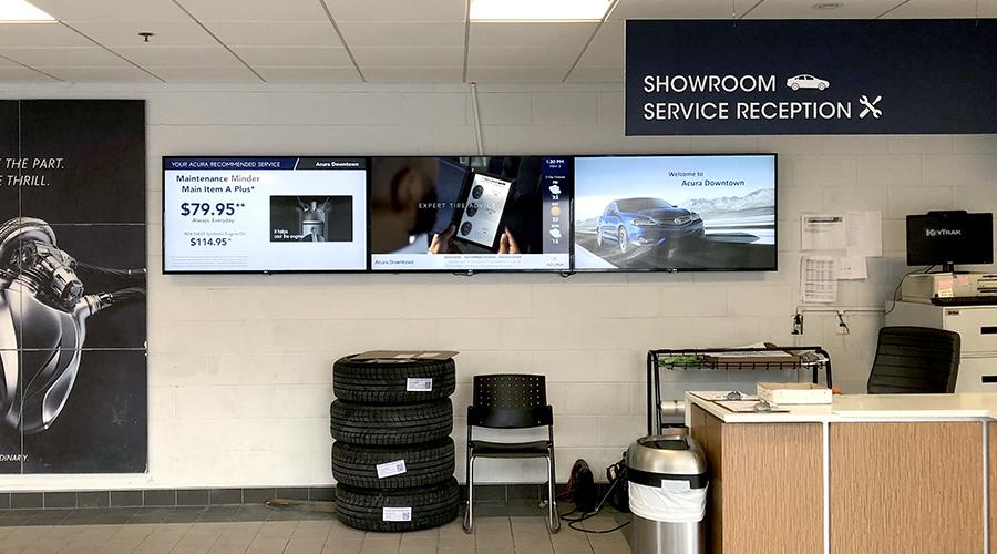 Acura Service Digital Signage