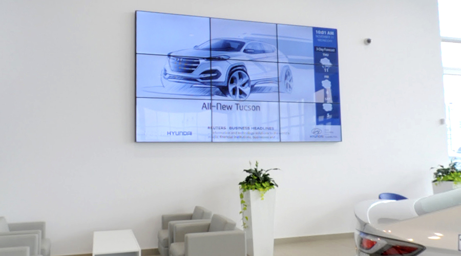 Hyundai Video Wall Digital Signage