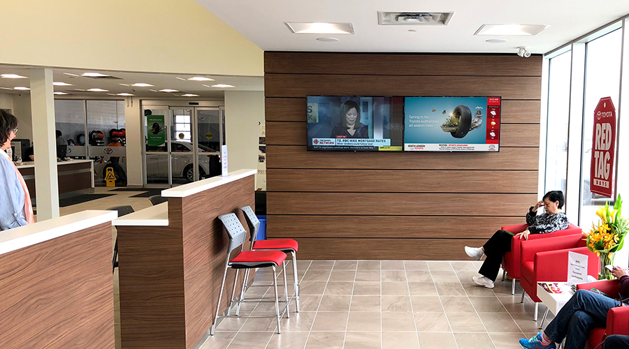 Toyota Waiting Area installation