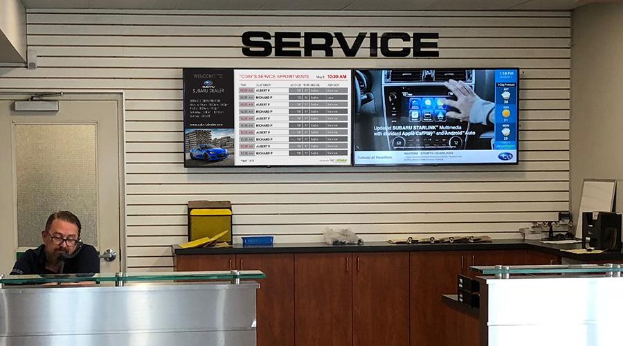 Subaru Digital Signage Service