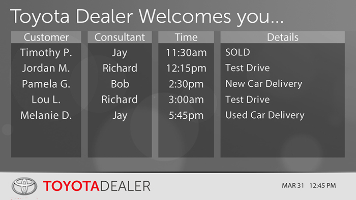 Toyota-Sales Appointments