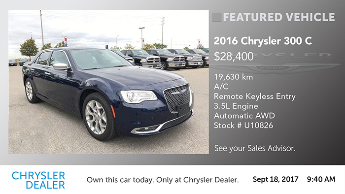 Chrysler-Featured Vehicle