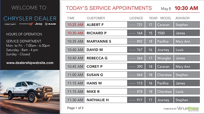 Chrysler-Service Appointment