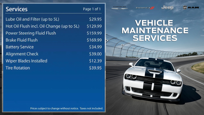 Chrysler-Service Menuboard