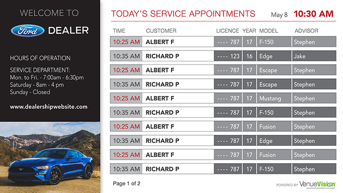 Ford-Service Appointments