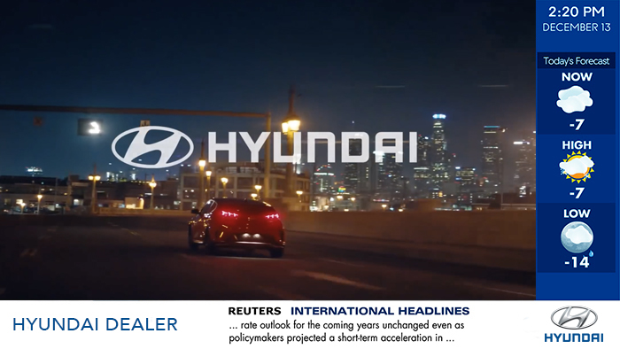 Hyundai-Interface Digital Signage
