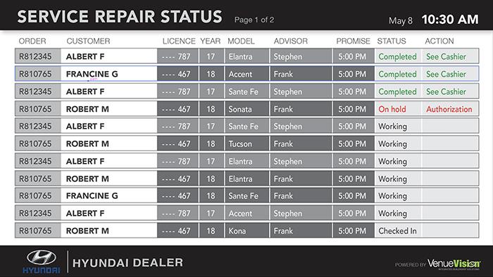 Hyundai-Repair Status