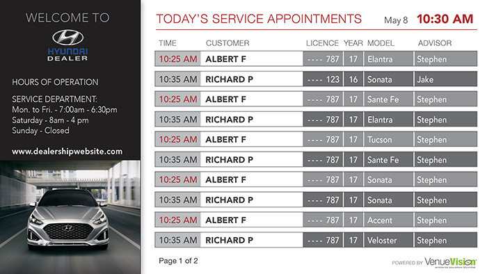 Hyundai-Service Appointments