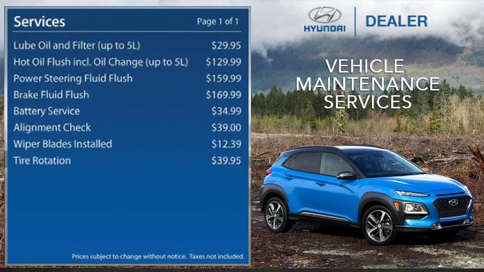 Hyundai-Service Menuboard