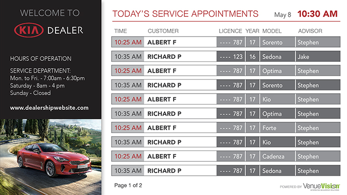 Kia-Service Appointments