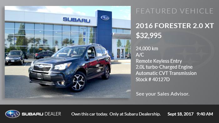 Subaru-Featured Vehicle