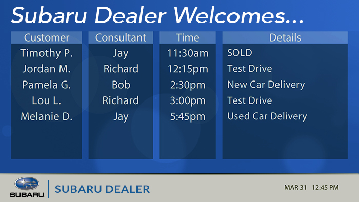 Subaru-Sales Appointments