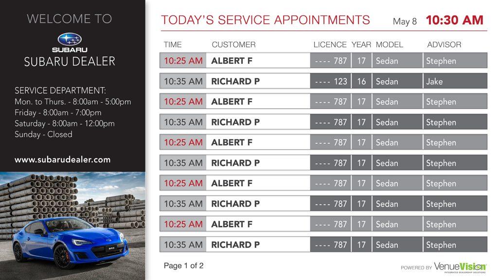 Subaru-Service Appointment