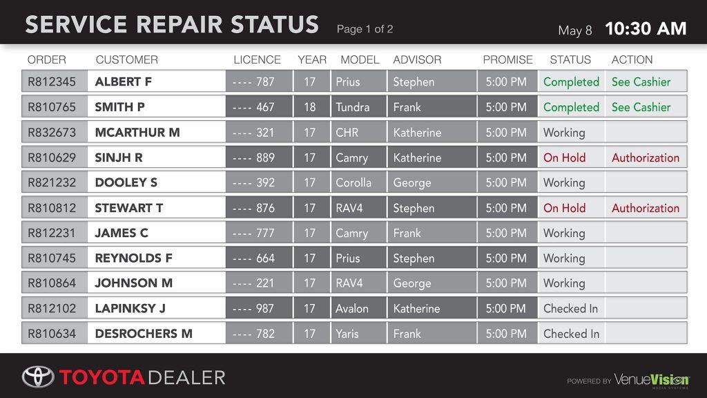 Toyota-Repair Status