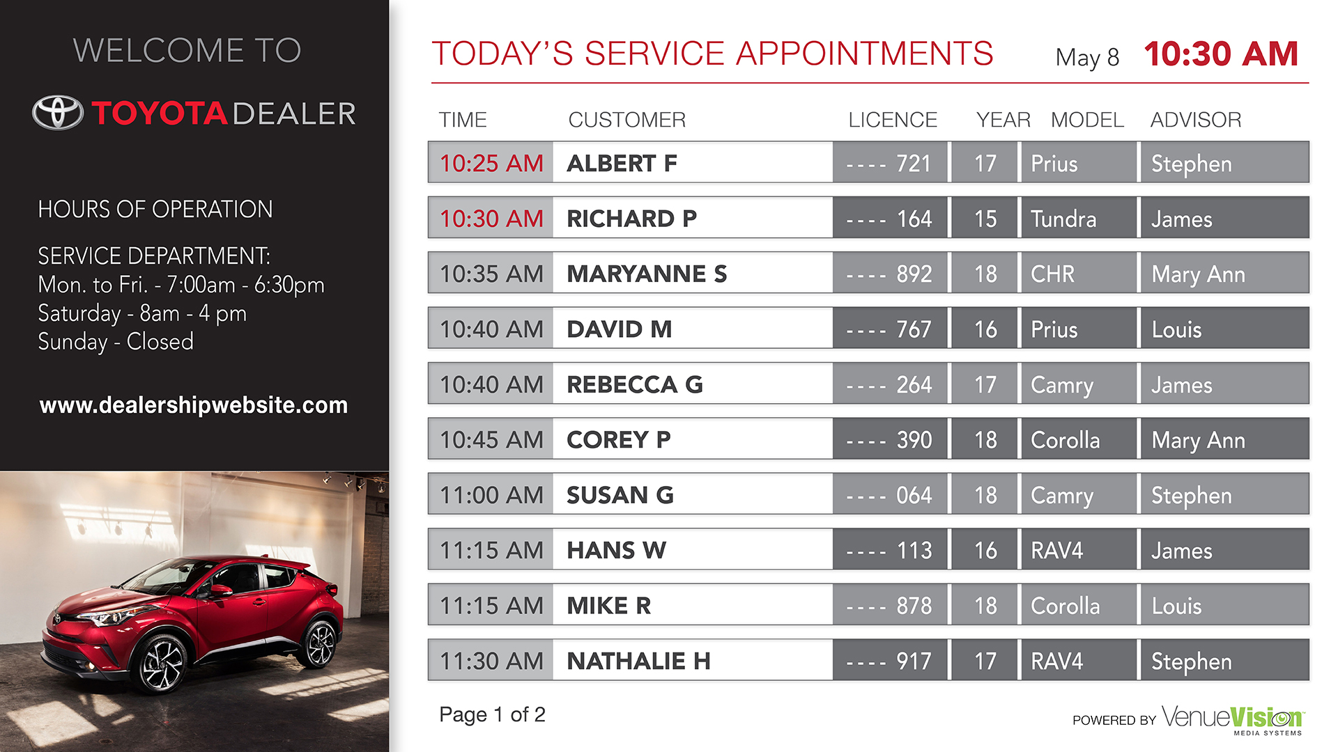 Toyota-Service Appointment