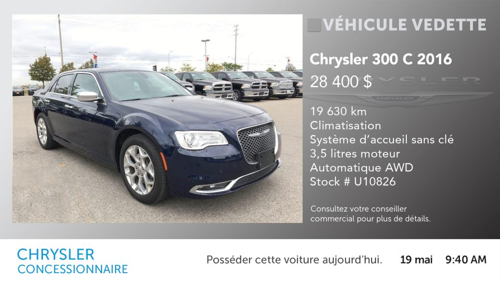 Chrysler Featured Vehicle - FR