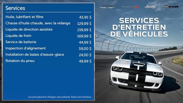 Chrysler Menuboard - FR