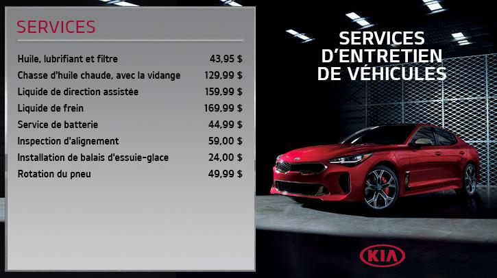 Kia Service Menuboard - FR