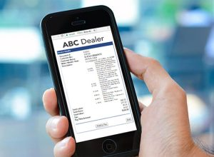 Mobile Cashier Invoice view